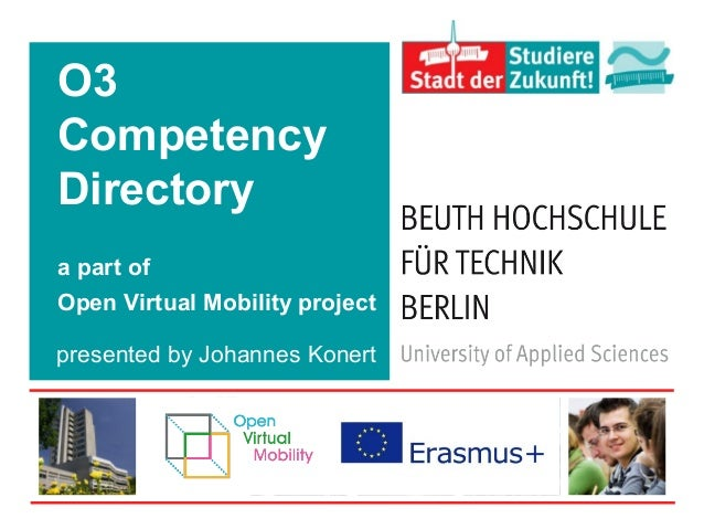 O3 Competency Directory a part of Open Virtual Mobility project presented by Johannes Konert