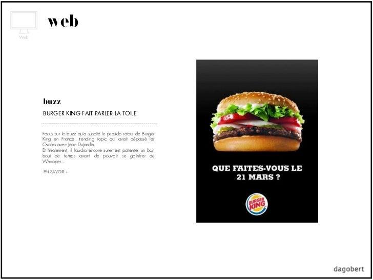 webbuzzBURGER KING FAIT PARLER LA TOILEFocus sur le buzz qua suscité le pseudo retour de BurgerKing en France, trending to...