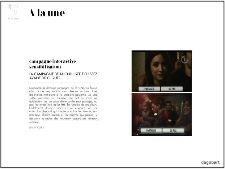 A la unecampagne interactive +sensibilisationLA CAMPAGNE DE LA CNIL : RÉFLÉCHISSEZAVANT DE CLIQUERDécouvrez la dernière ca...