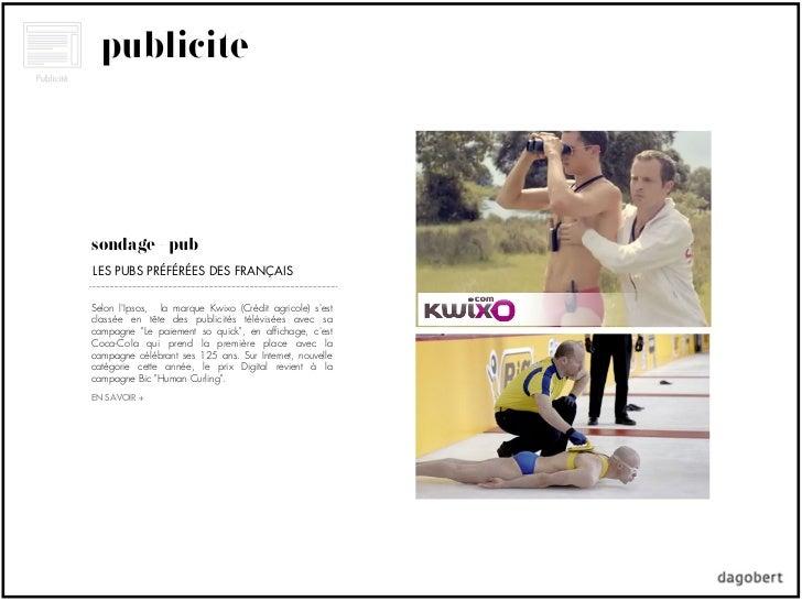 publicitésondage + pubLES PUBS PRÉFÉRÉES DES FRANÇAISSelon lIpsos, la marque Kwixo (Crédit agricole) sestclassée en tête d...