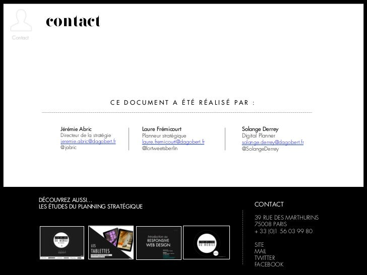 contact                             CE DOCUMENT A ÉTÉ RÉALISÉ PAR :       Jérémie Abric               Laure Frémicourt    ...