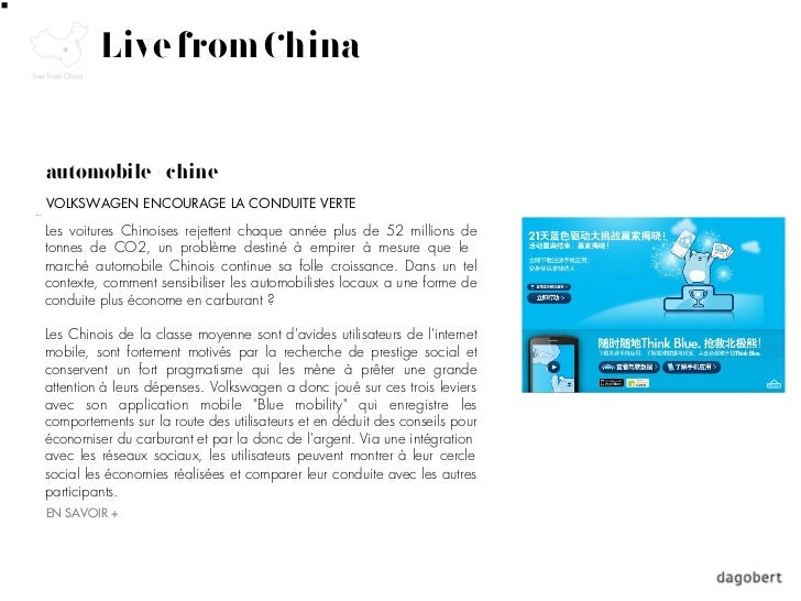 Live from Chinaautomobile + chineVOLKSWAGEN ENCOURAGE LA CONDUITE VERTELes voitures Chinoises rejettent chaque année plus ...