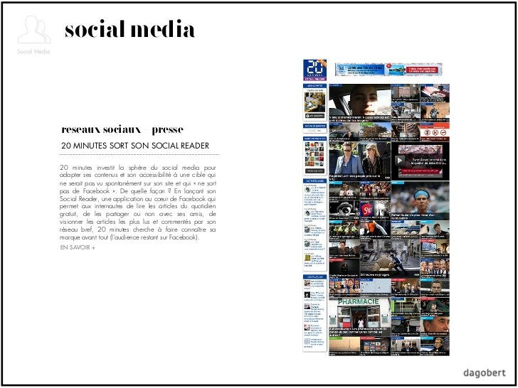 social mediaréseaux sociaux + presse20 MINUTES SORT SON SOCIAL READER20 minutes investit la sphère du social media pourada...