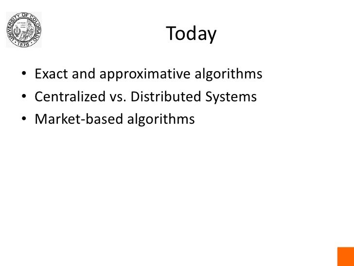 September 11 Deliberative Algorithms Ii