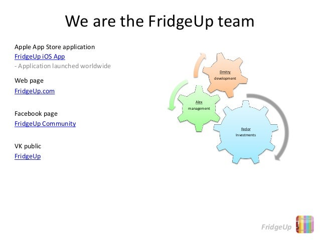 We are the FridgeUp teamApple App Store applicationFridgeUp iOS App- Application launched worldwide                       ...
