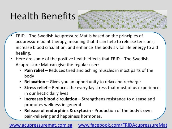 Frid The Swedish Acupressure Mat The Swedish
