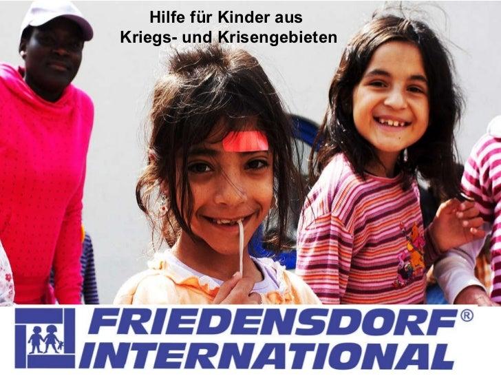 Hilfe für Kinder aus  Kriegs- und Krisengebieten