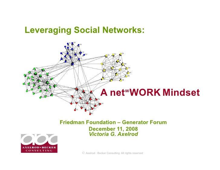 Leveraging Social Networks:                                 A net∞WORK Mindset         Friedman Foundation – Generator For...