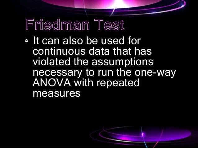 Friedman test Stat  Slide 3