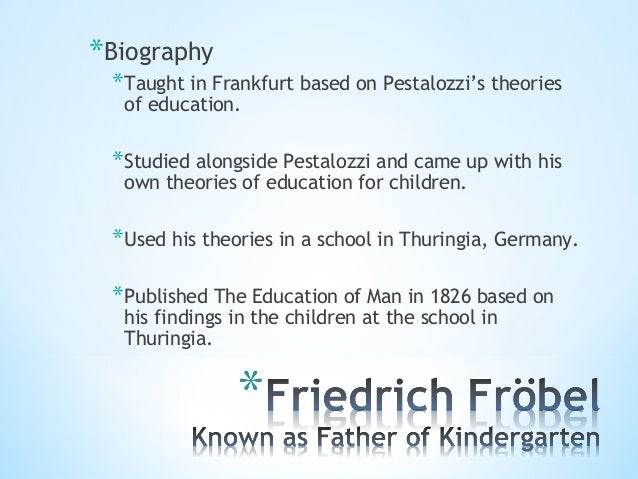 friedrich froebel kindergarten philosophy