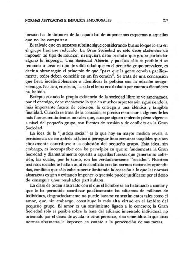 Friedrich hayek   la disciplina de las normas abstractas y los impulsos emocionales de la sociedad tribal