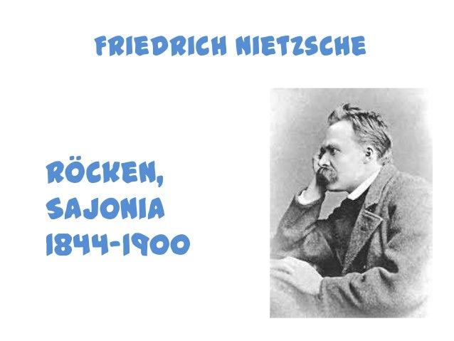 Friedrich Nietzsche Röcken, Sajonia 1844-1900
