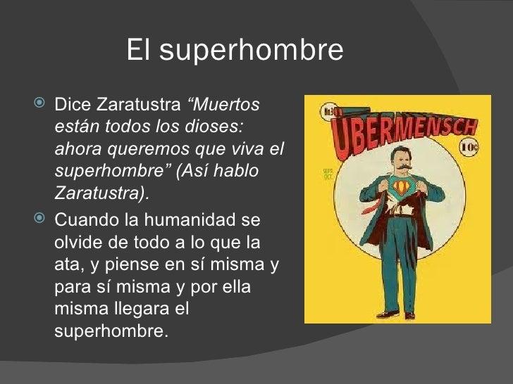 Resultado de imagen para NIETZSCHE SUPERHOMBRE