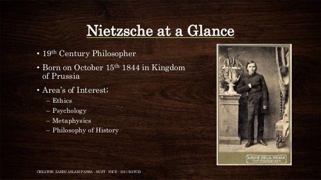 the life and philosophies of friedrich nietzsche Alexander nehamas writes in nietzsche: life as literature of three ways of seeing the eternal recurrence: (a) my life will recur in exactly identical fashion this expresses a totally fatalistic approach to the idea  the philosophy of friedrich nietzsche, and in 1910 a book of translated paragraphs from nietzsche, increasing knowledge of.