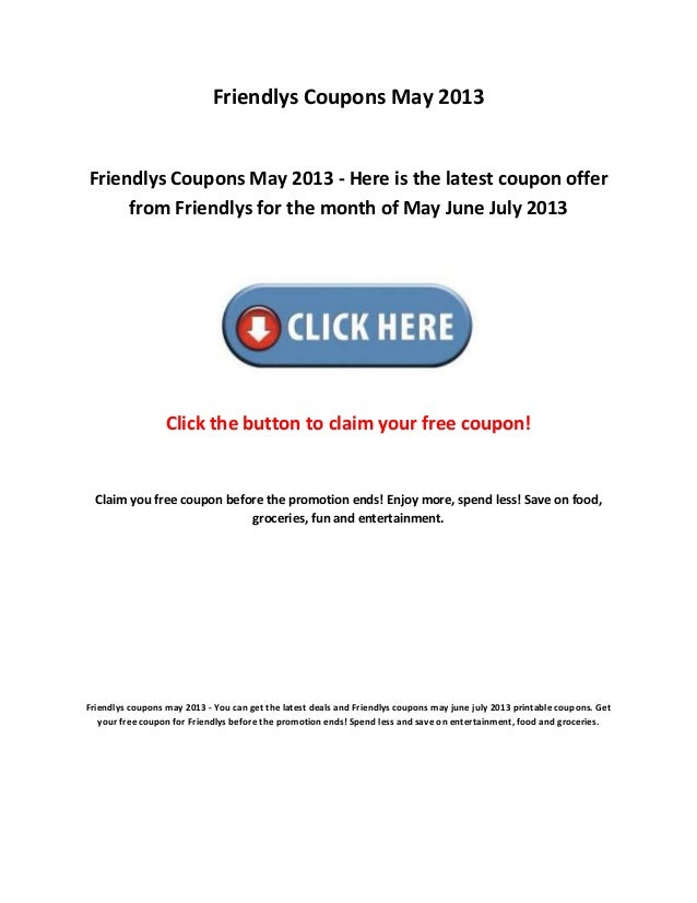 picture about Friendly's Ice Cream Coupons Printable Grocery titled Friendlys coupon codes may possibly 2013