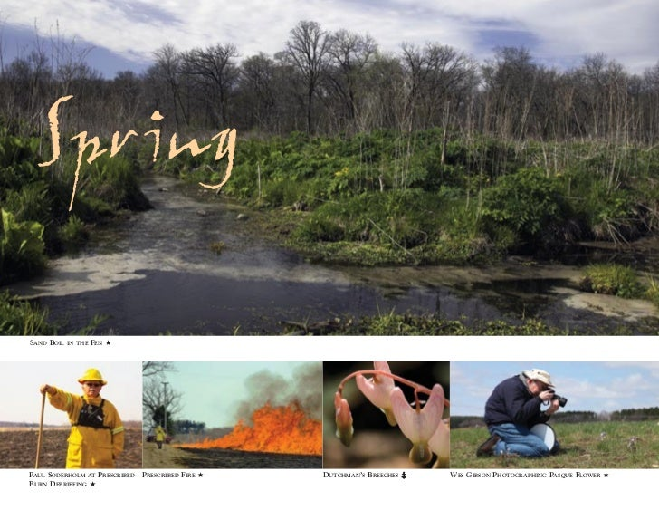 Spr ingSAND BOIL   IN THE   FEN ★PAUL SODERHOLM AT PRESCRIBED PRESCRIBED FIRE ★   DUTCHMAN'S BREECHES   WES GIBSON PHOTOGR...