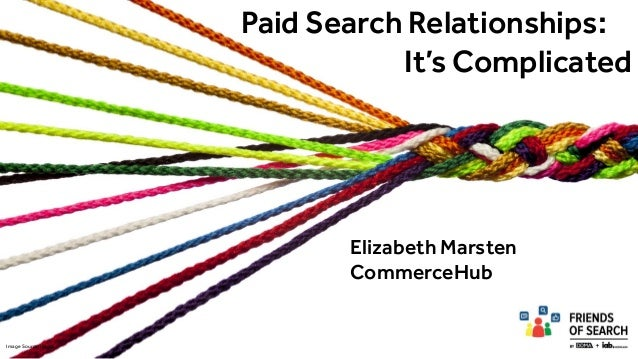 Paid Search Relationships: It's Complicated Elizabeth Marsten CommerceHub Image Source: iStock