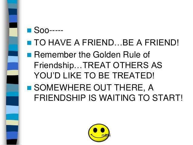 Presentation about friendship