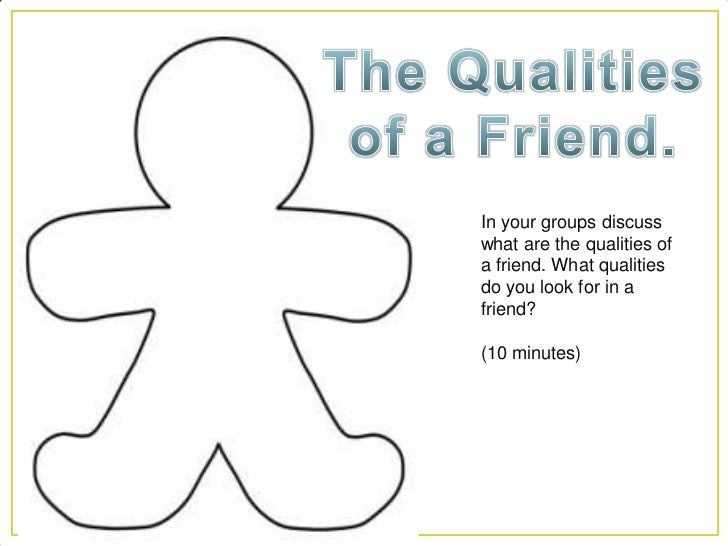 friendship ppt  4 in your groups discusswhat are the qualities ofa friend
