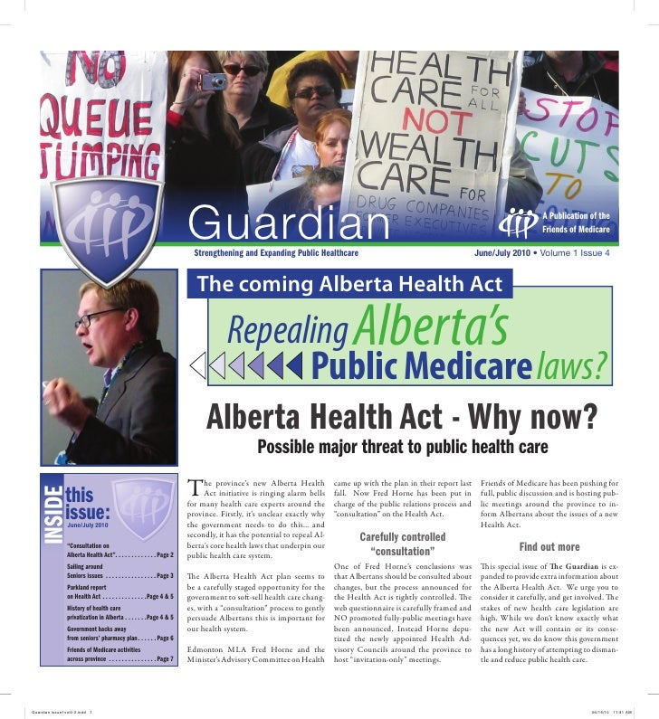 Alberta Health Act - Why Now?