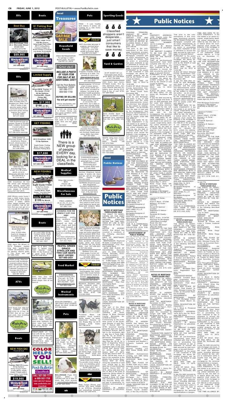 C8                 FRIDAY, JUNE 1, 2012                                                      POST-BULLETIN • www.PostBulle...