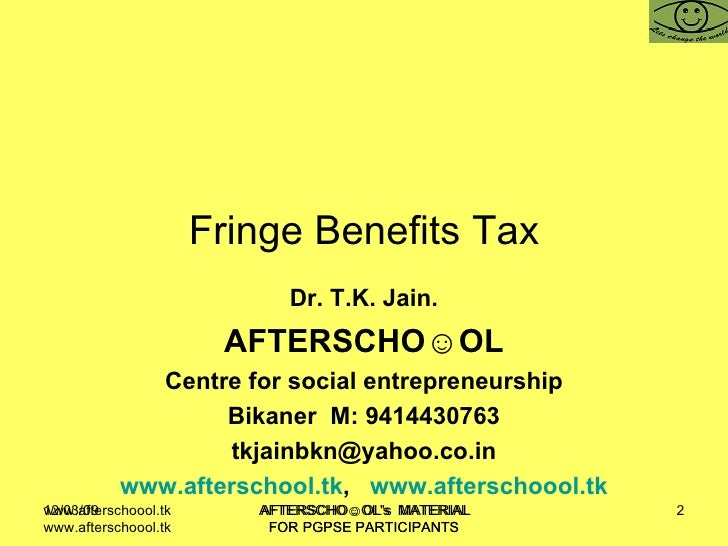fringe benefit tax Before offering fringe benefits to your employees, understand your tax liabilities.