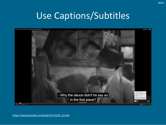 https://www.youtube.com/watch?v=zCqN_cCLnnk Use Captions/Subtitles #ID24