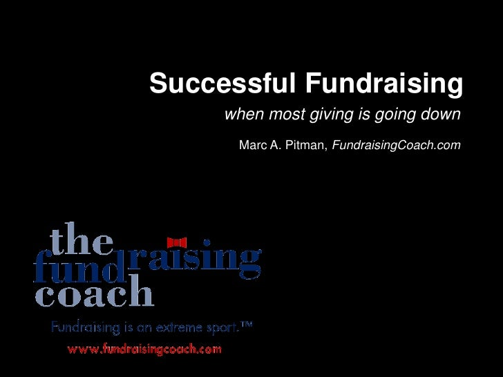 Successful Fundraising      when most giving is going down       Marc A. Pitman, FundraisingCoach.com