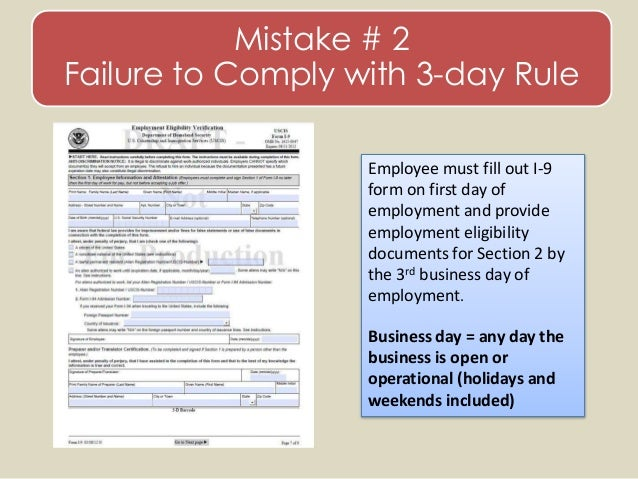 form i-9 3 day rule  Avoiding Workplace Pitfalls - Domestic and Foreign Employee ...
