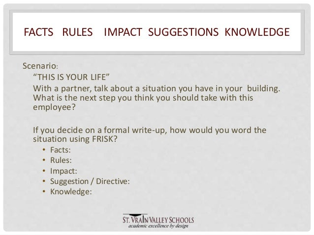 formal write up for employee
