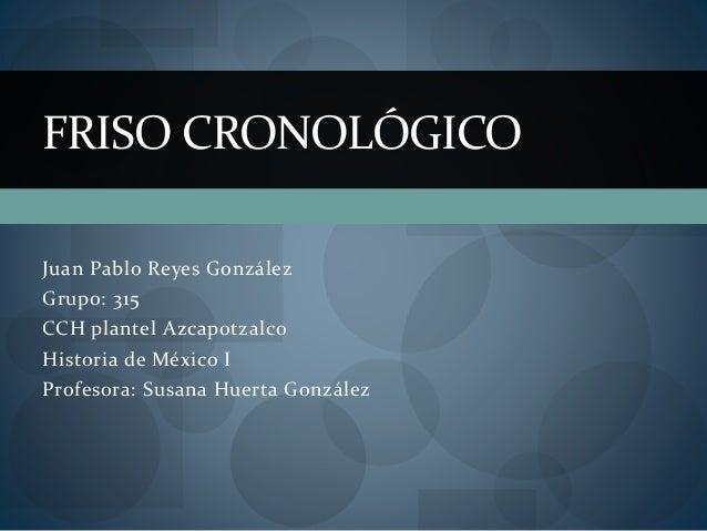 Juan Pablo Reyes González Grupo: 315 CCH plantel Azcapotzalco Historia de México I Profesora: Susana Huerta González FRISO...