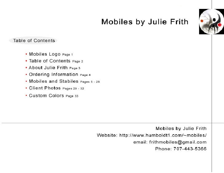 Mobiles by Julie Frith Slide 2