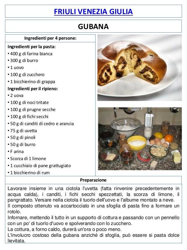 FRIULI VENEZIA GIULIA GUBANA Ingredienti per 4 persone: Ingredienti per la pasta: • 400 g di farina bianca • 300 g di burr...