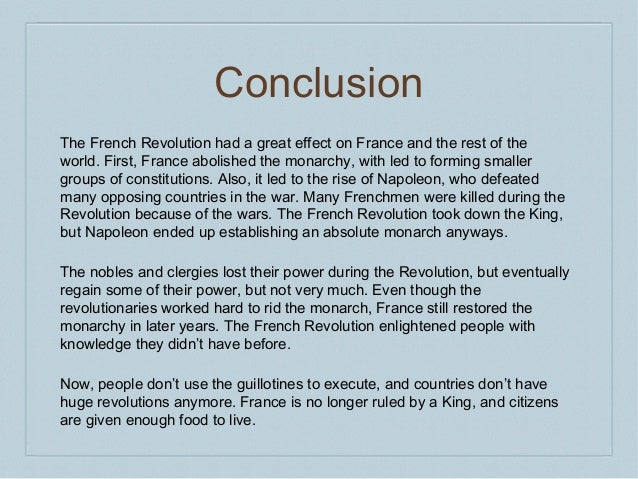 the french revolution conclusion