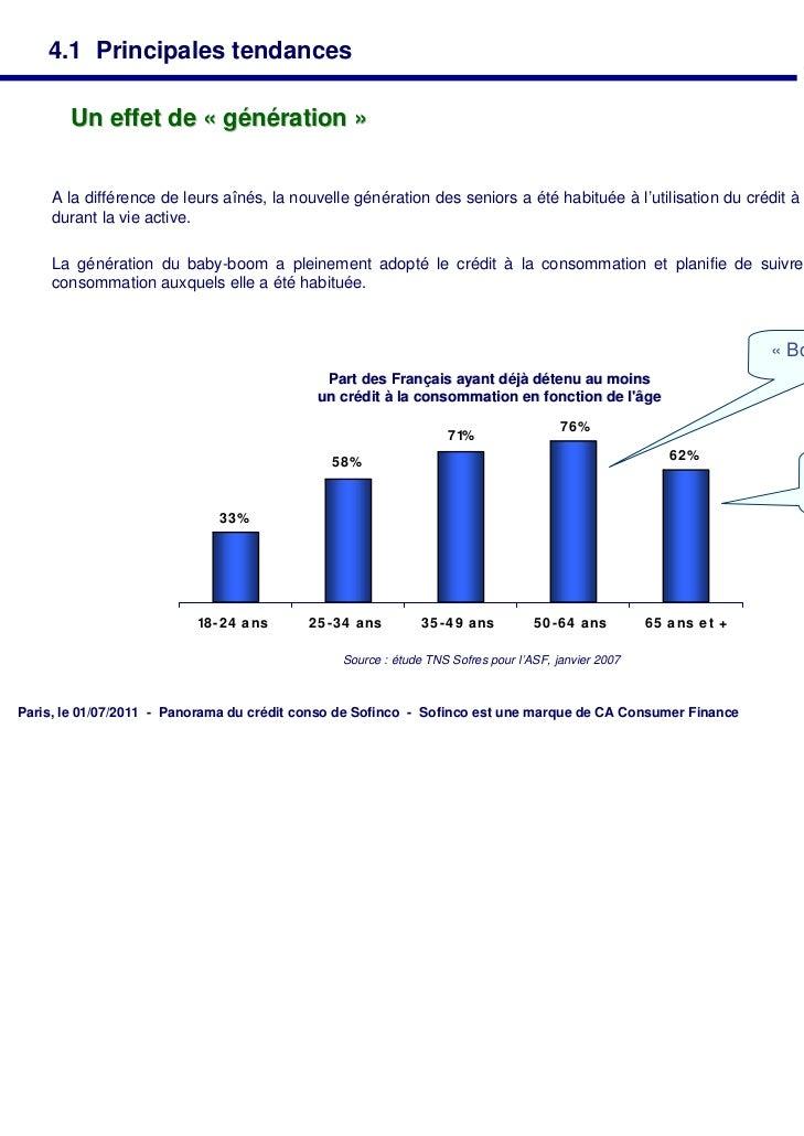 4.1 Principales tendances       Un effet de « génération »     A la différence de leurs aînés, la nouvelle génération des ...