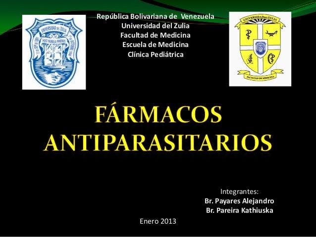 República Bolivariana de Venezuela       Universidad del Zulia      Facultad de Medicina       Escuela de Medicina        ...