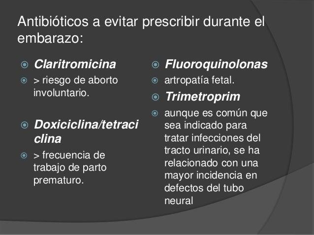 medicamentos prohibidos para mujeres embarazadas