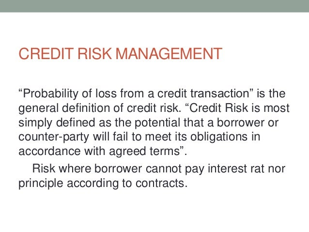 CREDIT RISK DEFINITION EBOOK DOWNLOAD