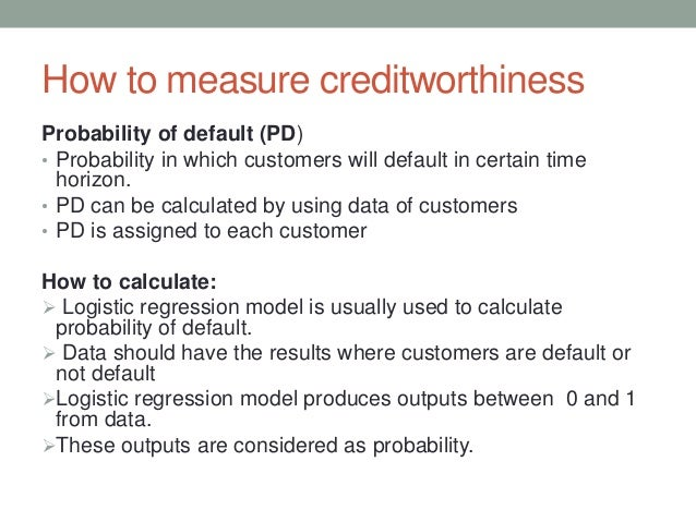 Determining probability of default