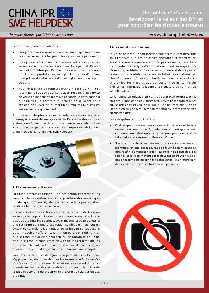 Directives à l'attention de la protection des droits de propriété industrielle et intellectuelle (DPI) de l'industrie des dispositifs médicaux en Chine Slide 3