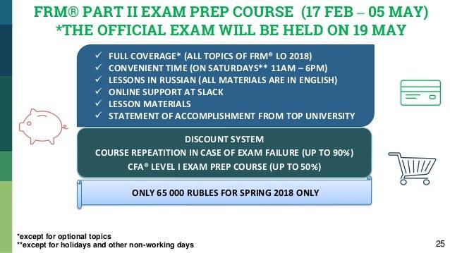 FRM® Exam Prep courses at MSU