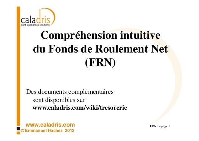 Compréhension intuitive    du Fonds de Roulement Net              (FRN)  Des documents complémentaires    sont disponibles...