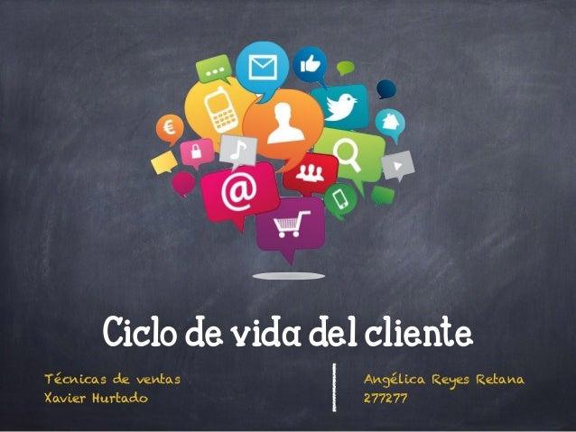 Técnicas de ventas Xavier Hurtado Angélica Reyes Retana 277277 Ciclo de vida del cliente