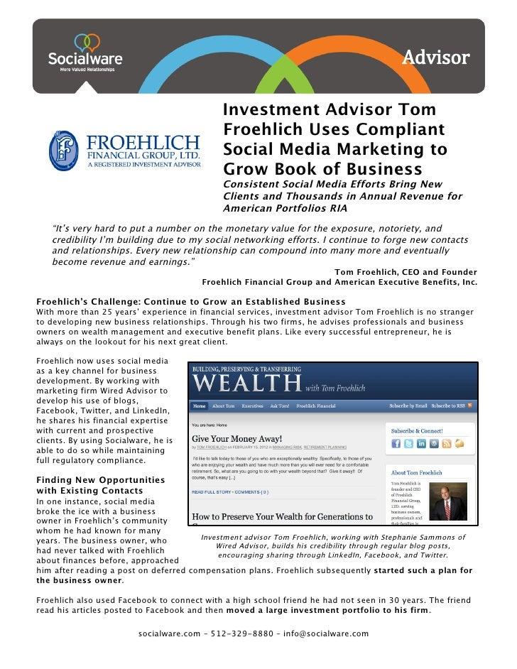Investment Advisor Tom                                              ...