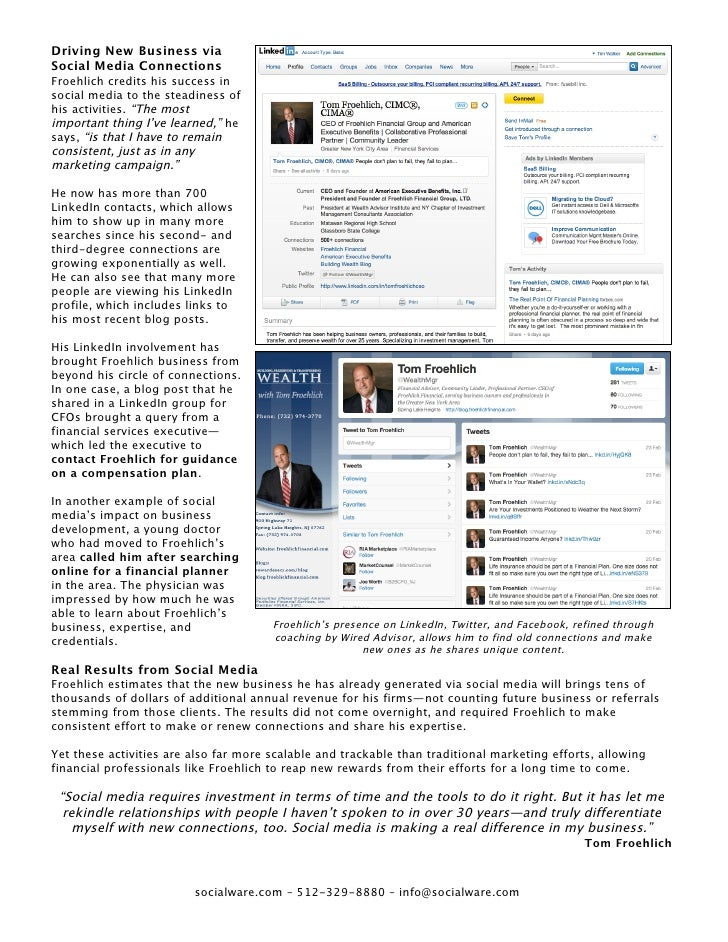 Financial Advisor Social Media Case Study by Socialware