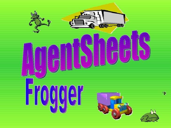 AgentSheets Frogger
