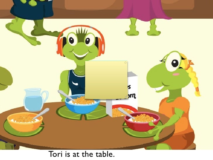 Tori is at the table.