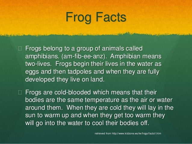 A Few Facts about Frogs