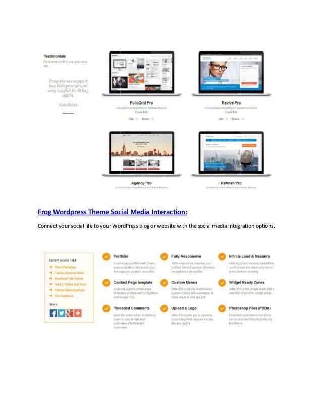 Frog wordpress themes Slide 2
