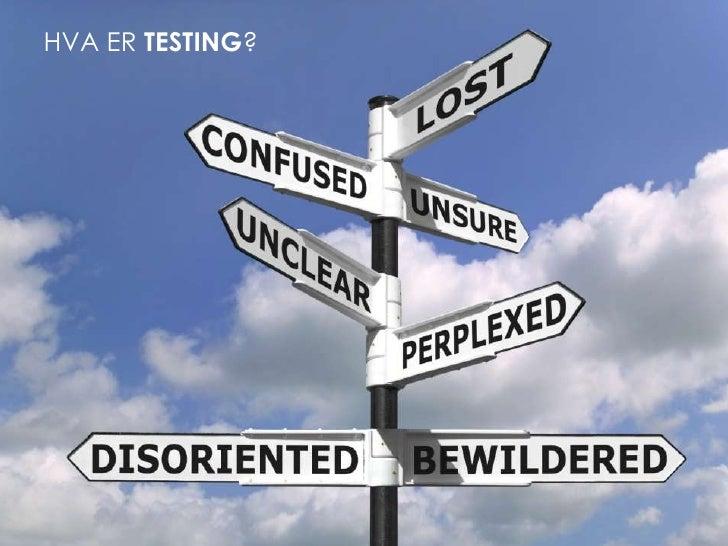 Hva er testing?<br />